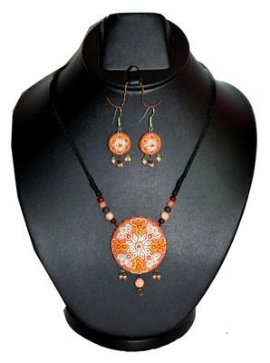 Handmade Terracotta Floral Pendant