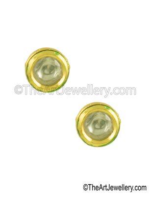 Clear Vilandi Kundan Stud Earrings Jewellery for Women - Orniza
