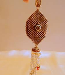 stylish stone and polki keychain