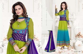 Styloce Multi Color Designer Salwar Kameez .STY-103-409