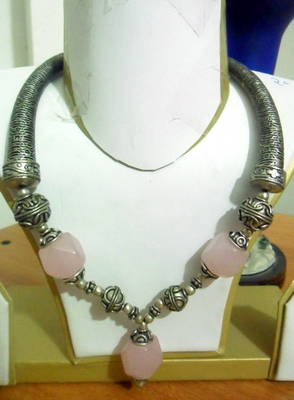 German Silver Rose Quartz