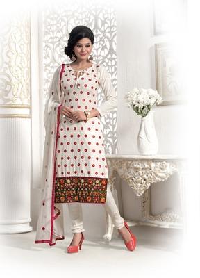 White Camric Dress Material