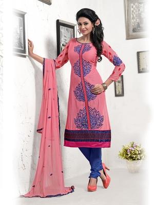 Pink Camric Dress Material