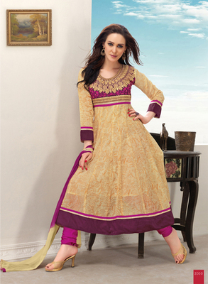Beige Cotton salwar suit