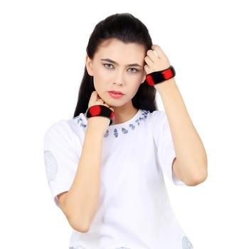 TOUCAN REDISH Black Acrylic Bangles for women
