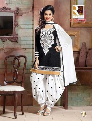 heavy embroidery.black white salwar suit