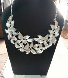 Buy Silver Leaves Collar necklace Necklace online