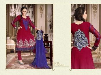 Red Color Designer Salwar Kameez