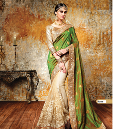 Buy Green woven georgette saree with blouse georgette-saree online