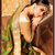 Green woven georgette saree with blouse