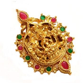 Gold ruby Pendant