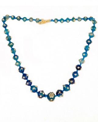 Blue Jade Kundan Necklace