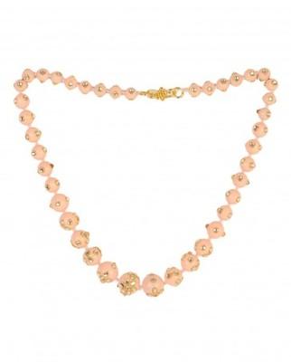 Peach kundan Necklace