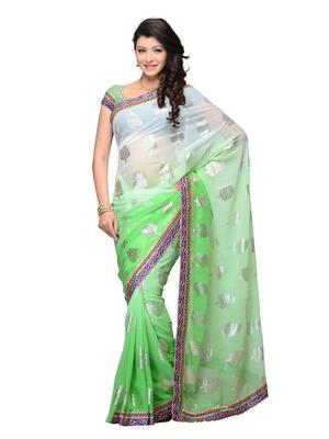 Green Color Georgette Party Wear Fancy Designer Saree