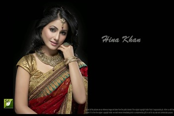 Hina Khan Red 60 Gram Bollywood Saree