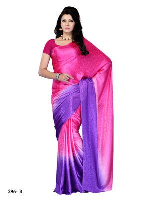 Magenta  Color Jacquard Party Wear Fancy Designer Saree