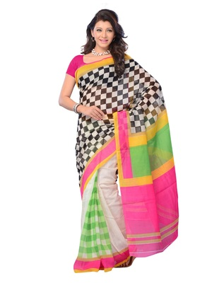 Multi Color Cotton Party Wear Fabcy Saree