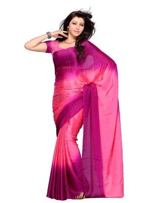 Pink Color Georgette CasualOffice Wear Saree