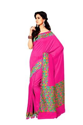 Pink Color Raw Silk Saree