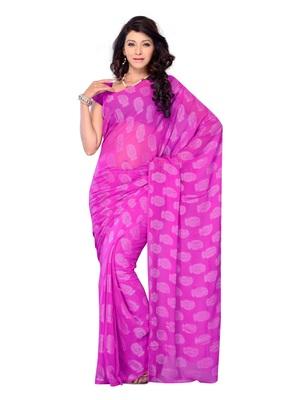 Purple Color Jacquard Casual Wear Saree