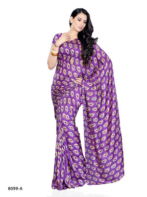 Purple Color Jacquard FestivalCasual Wear Saree