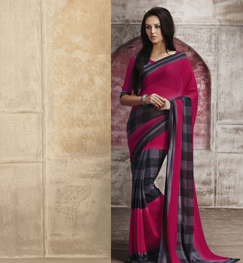 Trendy Maroon Georgette Saree