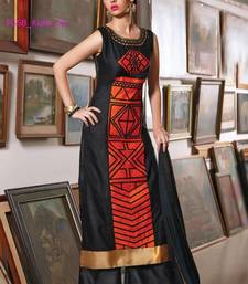 Buy black stitched taffeta silk stitched kurti black-friday-deal-sale online
