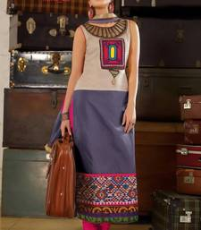 Buy multicolor stitched taffeta silk stitched kurti party-wear-kurti online