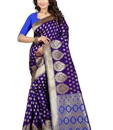 Buy Multicolor printed banarasi saree with blouse banarasi-silk-saree online