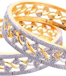 Buy Silver american diamonds bangles-and-bracelets diwali-jewellery online