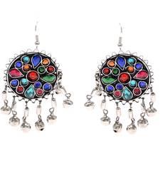 Buy Multicolor Dangler Oxidize  Earrings Earring online