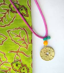 Buy Multicolor metallic Brass handmade necklaces Necklace online