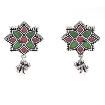 Multicolor diamond earrings