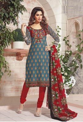 Beautiful Multi Color Printed Cotton  Dress Material D.No SU2625