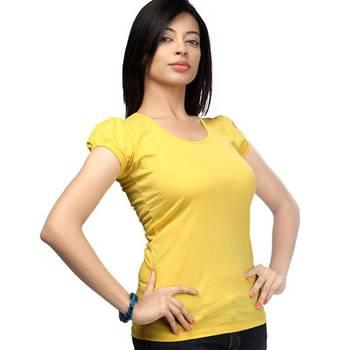 Casual round neck : Sunshine Yellow