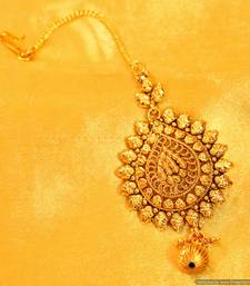 Buy Gold Plated Pear Shaped Maang Tikka maang-tikka online