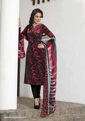Red GeorgetteSemi Stitch Dress