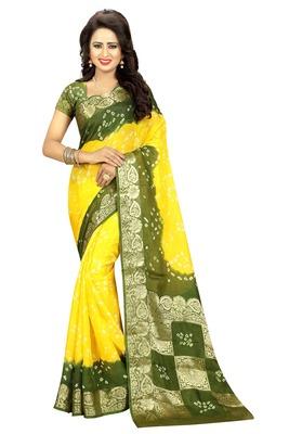 Multicolor art silk saree with blouse