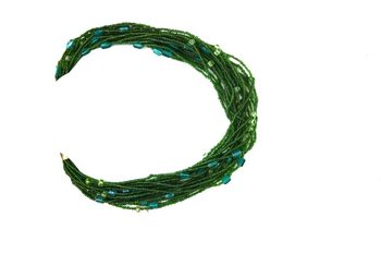 Green Beaded Dezire Necklace
