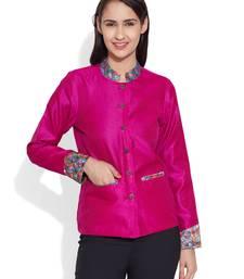 Buy Pink dupion silk plain ethnic jackets ethnic-jacket online
