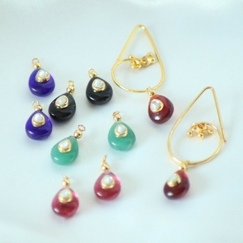 Interchangable Multicolored Beads Danglers Drops Earrings Jhumkas