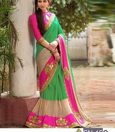 Buy Multicolor embroidered paper cotton saree with blouse designer-embroidered-saree online