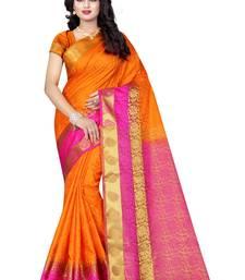Buy Multicolor woven banarasi saree with blouse banarasi-silk-saree online