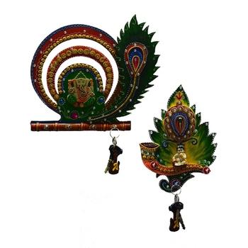 Combo of Lord Ganesha and Laddu Gopal Key Holder