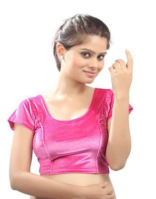 Light pink Velvet Stretchable Blouse. Size xL.