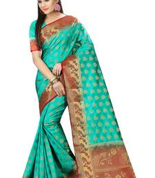 Buy Multicolor printed nylon saree with blouse pongal-dhoti-saree online