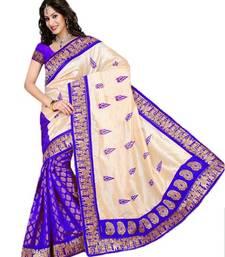 Buy Purple printed bhagalpuri saree with blouse bhagalpuri-silk-saree online