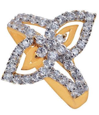 Lively Gold American Diamond Size 14 Finger Ring
