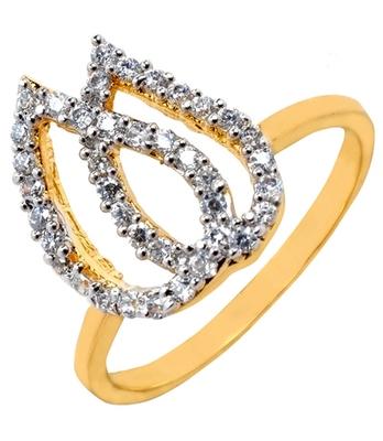 Lovable Silver American Diamond Size 14 Finger Ring