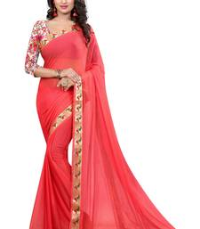Buy Dark red woven nazneen saree with blouse hand-woven-saree online
